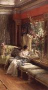 Sir Lawrence Alma-Tadema,OM.RA,RWS Vain Courtship oil painting reproduction