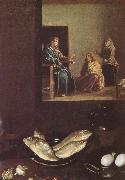 VELAZQUEZ, Diego Rodriguez de Silva y Detail of Jesus in the Mary-s home oil painting reproduction