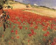 William blair bruce Landscape with Poppies oil painting