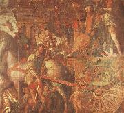 unknow artist Caesar-s Chariot From the triumph of caesar Mantegna oil painting reproduction