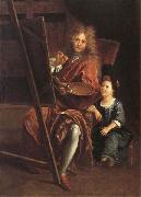 Antoine Coypel Portrait of the Artist with his Son,Charles-Antoine oil painting