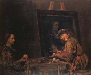 Arent De Gelder Self-Portrait Painting an Old Woman oil painting