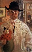 Carl Olaf Larsson Self-Portrait oil painting