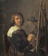 David Teniers Self-Portrait:The Painter in his Studio oil painting reproduction