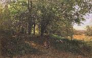 Edmund George Warren,RI Rest in the cool and shady Wood (mk46) oil painting