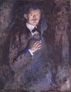 Edvard Munch Self-Portrait with a Cigarette oil painting