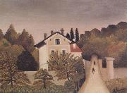 Henri Rousseau Landscape on the Banks of the Oise oil painting reproduction