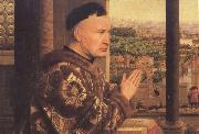 Jan Van Eyck Details of The Virgin of Chancellor Rolin (mk45) oil painting reproduction