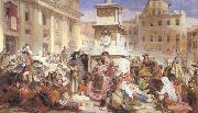 John Frederick Lewis Easter Day at Rome (mk46) oil painting