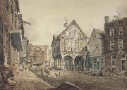 John varley jnr Market Place ,Leominster (mk47) oil painting reproduction