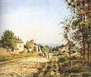 Camille Pissarro Under the sun Versailles Road oil painting reproduction