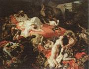 Eugene Delacroix the death of sardanapalus oil painting reproduction