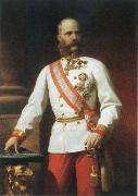 Eugene de Blaas kaiser franz josef l of austria in uniform oil painting