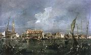 Francesco Guardi venice acrooss the basin of san marco oil painting reproduction