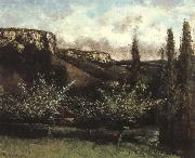 Gustave Courbet Garden oil painting reproduction