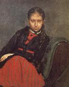 Ilia Efimovich Repin Ms. Xie file her portrait oil painting