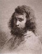 Jean Francois Millet Self-Portrait oil painting