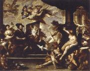 Luca Giordano rubens painting the allegory of peace oil painting