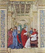 Melozzo da Forli Pope Sixtus IV appoints Bartolomeo Platina prefect of the Vatican Library oil painting reproduction