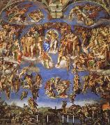 Michelangelo Buonarroti the last judgment oil painting reproduction