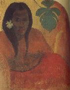 Paul Gauguin Tahitian woman oil painting reproduction