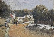 Alfred Sisley Early Snow at Louveciennes, oil painting reproduction