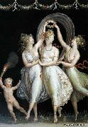 Antonio Canova The Three Graces Dancing oil painting