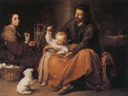 Bartolome Esteban Murillo Holy Family and the birds oil painting reproduction