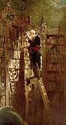 Carl Spitzweg The Bookworm, oil painting reproduction