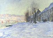 Claude Monet Lavacourt: Sunshine and Snow oil painting reproduction