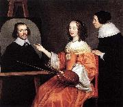 Gerard van Honthorst Margareta Maria de Roodere and Her Parents by Gerrit van Honthorst oil painting reproduction