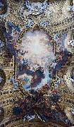 Giovanni Battista Gaulli Called Baccicio The Worship of the Holy Name of Jesus, with Gianlorenzo Bernini, on the ceiling of the nave of the Church of the Jesus in Rome. oil painting