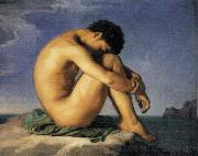 Hippolyte Flandrin Young Man by the Sea oil painting