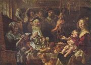 Jacob Jordaens Jacob Jordaens, As the Old Sang, So the young Pipe. oil painting reproduction