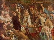 Jacob Jordaens Jacob Jordaens. The King Drinks oil painting reproduction