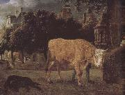 Jan van der Heyden Square cattle oil painting