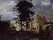 Jan van der Heyden Old Palace landscape oil painting