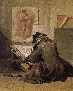 Jean Baptiste Simeon Chardin People are painting oil painting reproduction
