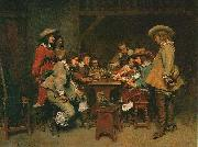 Jean-Louis-Ernest Meissonier A Game of Piquet, oil painting