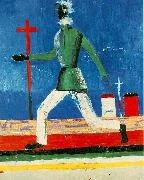 Kazimir Malevich Running man oil painting
