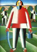 Kazimir Malevich Mower oil painting