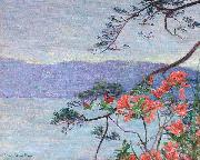 Lilla Cabot Perry Suruga Bay, Azaleas, oil painting
