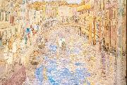 Maurice Prendergast Venetian Canal Scene oil painting reproduction