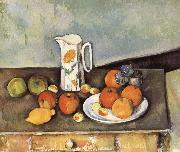 Paul Cezanne table of milk and fruit oil painting reproduction