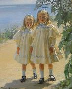 Peder Severin Kroyer The Benzon daughters oil painting reproduction
