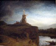 REMBRANDT Harmenszoon van Rijn The Mill, oil painting reproduction