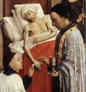 Rogier van der Weyden Detail of Roger van der Weyden The Seven Sacraments oil painting reproduction