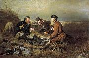 Vasily Perov The Hunters at Rest oil painting