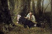 Vasily Perov The bird catcher oil painting
