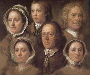 William Hogarth Hogarth s six servants oil painting reproduction